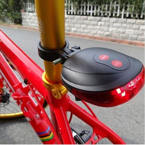 Bicycle Cycling Laser Tail Light (2 Laser + 5 LED),Bike safety light /Seatpost LED light free shipping