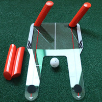 Golf Alignment Training Aid Swing Practice Trainer Lightweight Acrylic Golf Putting Mirror Speed Trap Base Golf Accessories 1801
