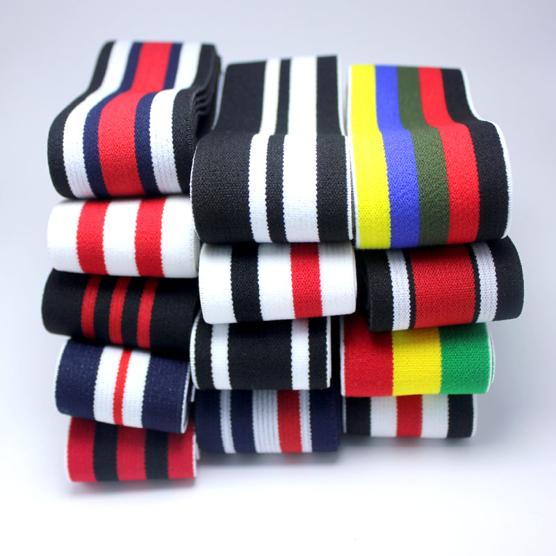 Width Of 3.8cm Accessories High Quality Stripes Soft Belt Rubber Band / Thicken And Soft Can Be Attached To The Elastic Band