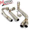 Motoo -  Exhaust Full system FOR Yamaha T-MAX Tmax 500 530 2008-2016 without exhaust