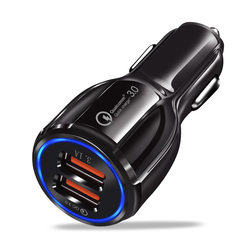 올라프 자동차 USB 충전기 빠른 충전 3.0 2.0 휴대 전화 충전기 2 포트 USB 빠른 자동차 충전기 아이폰 삼성 태블릿 자동차 충전기