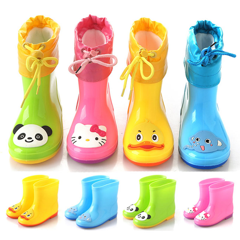 Mntrerm-2017-Children-Rain-Boots-Boys-Girls-Baby-Kids-Rhino-Candy-Color-with-Frog-Cat-Rabbit-Rain-Boots-Waterproof-Shoes-1