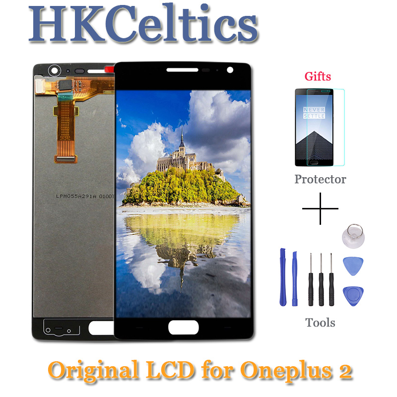 for <font><b>Oneplus</b></font> Two LCD Display + Touch <font><b>Screen</b></font> 100% Good Digitizer Assembly <font><b>Replacement</b></font> Accessories For One Plus <font><b>2</b></font> Mobile Phone+Tool image