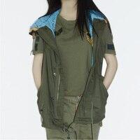 High Quality Women Spring & Autumn Waistcoats Jacket Hooded Thin Gauze Coat Sleeveless Vests Female Plus Size