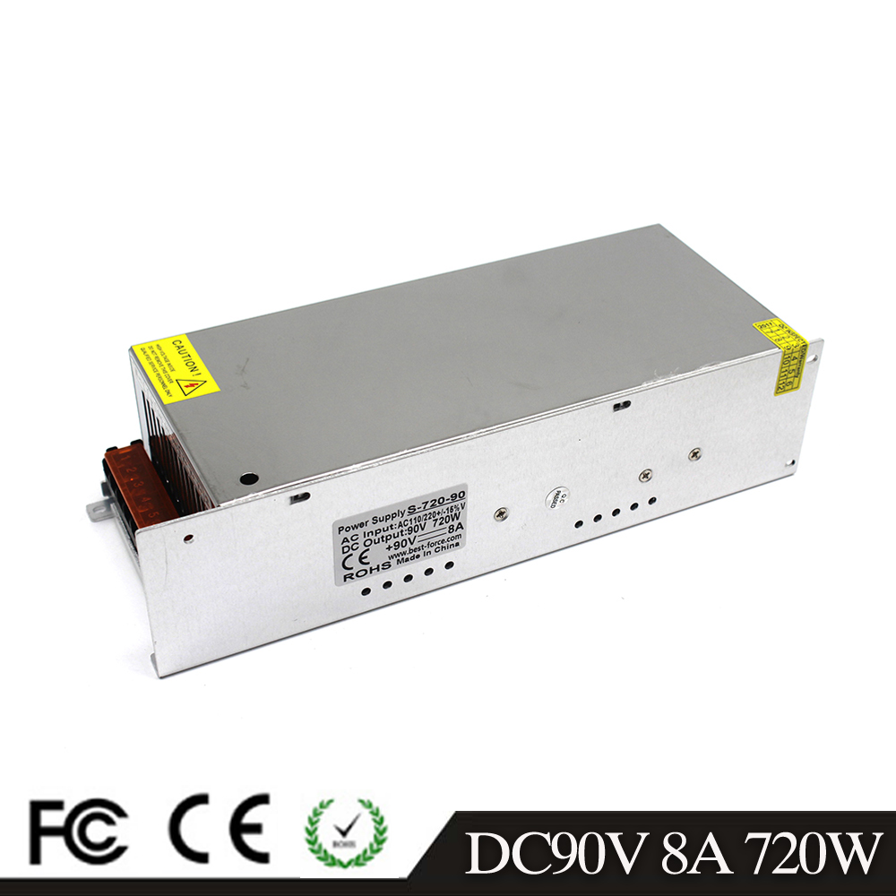 Universal 90V 8A 720W Regulated Switching Power Supply Transformer 220V AC DC SMPS for Industrial Equipment
