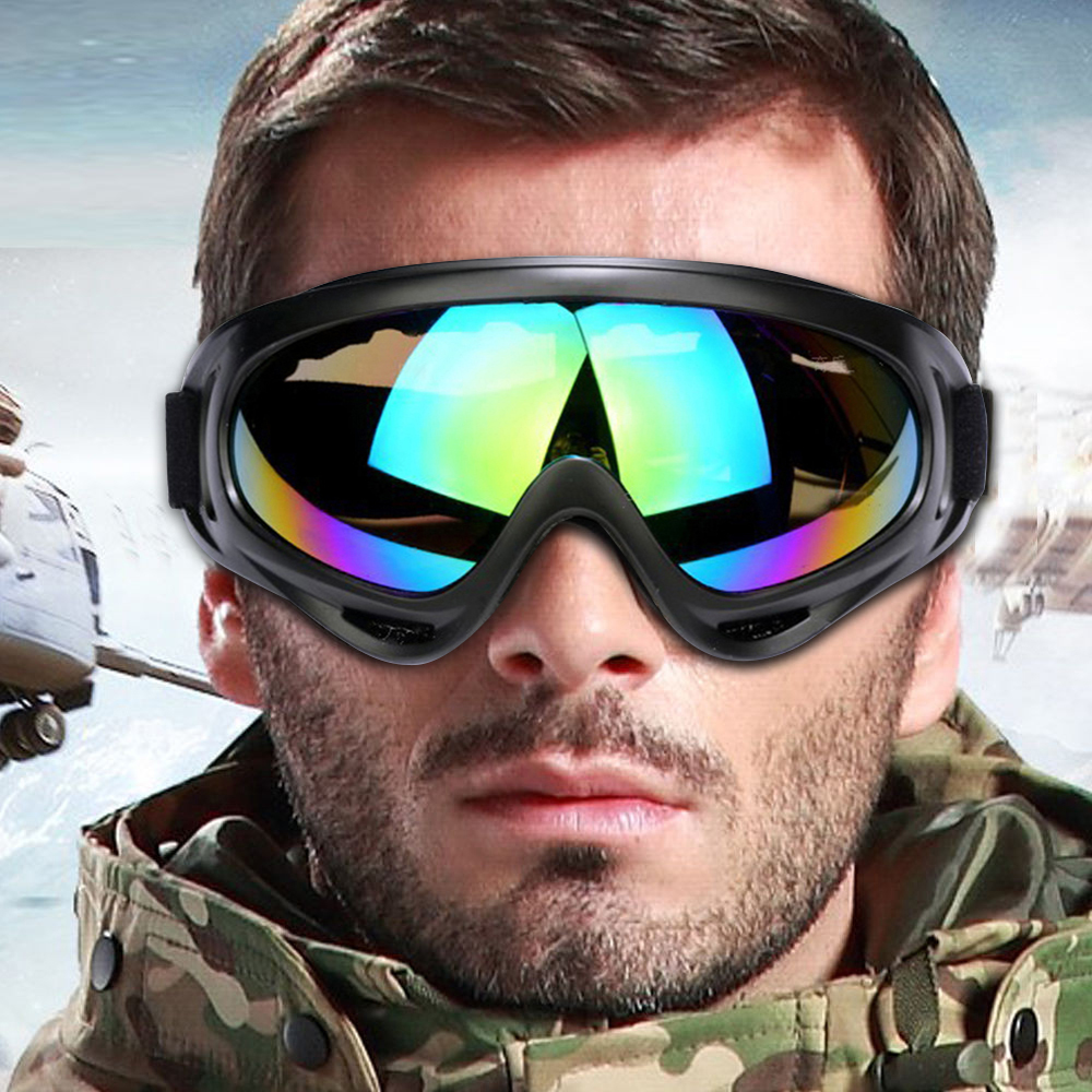 Anti-scratch Windproof Outdoor Bike Cycling Pc Lens Large Frame Glasses Skiing Eyewear Snowboarding Protective Goggle Motorcycle