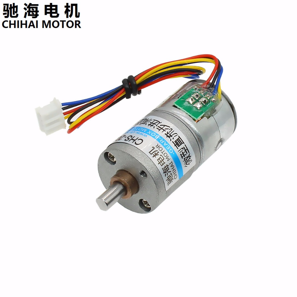ChiHai Motor CHS-GM20BY 2 phase 4 wire Stepper Gear Motor <font><b>20</b></font> Ohm <font><b>DC</b></font> 5.0V~12V Intelligent Pan Head Instrument Robot Motor image