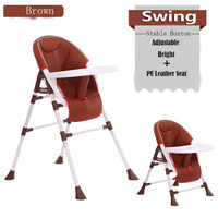 Multifunctional Portable Baby Folding Children Dining Chair Kids Booster Seat Feeding Chair Dinner Highchair