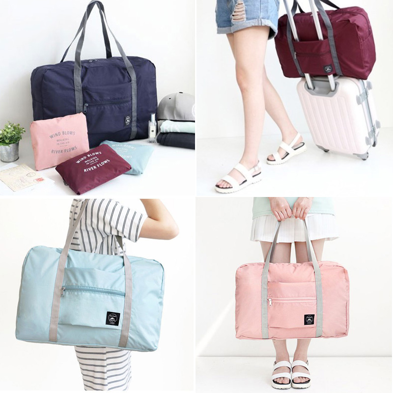 Travel Fashion Lightweight Large Capacity Duffel Portable Waterproof Foldable Storage Carry Luggage Tote Bag Puppy Chocolate Lab Kisses