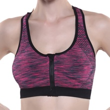 Women  High Stretch Breathable Bra Top Padded Fitness Seamless Crop