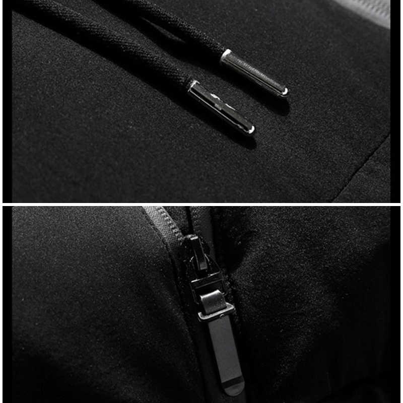 ブランド冬のジャケット男性服 2018 カジュアルスタンド襟フード付き襟ファッション冬コート男性パーカー上着暖かいスリムフィット 4XL