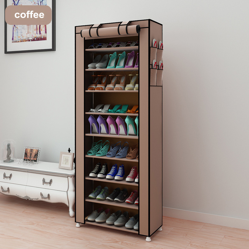 43.3-inch 7-layer 9-grid Non-woven Fabrics Large Shoe Rack Organizer Removable Shoe Storage For Home Furniture Shoe Cabinet