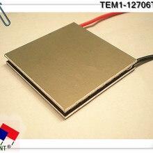 Сверхпроводящий алюминиевый DLC высокотемпературный Термоэлектрический охладитель Пельтье TEM1-12706 t200 C1206 40*40 мм