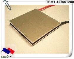 Nadprzewodzący aluminium DLC wysoka temperatura moduł peltiera do chłodzenia termoelektrycznego TEM1 12706 t200 C1206 40*40mm w Części do klimatyzatorów od AGD na