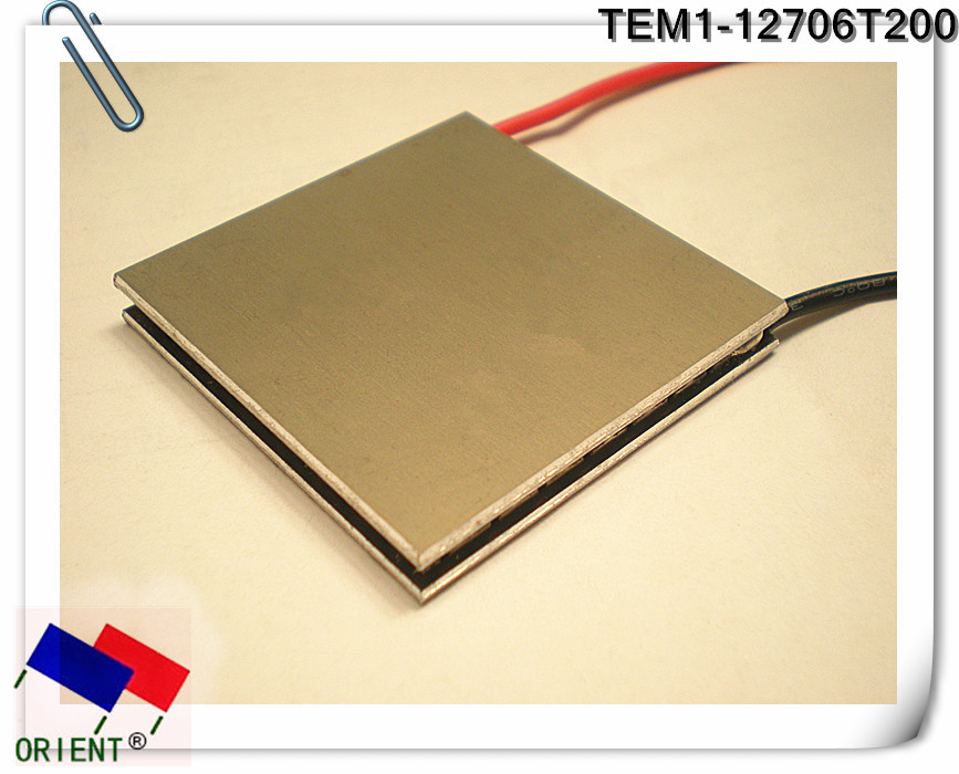 Superconducting aluminum DLC high temperature the Thermoelectric Cooler Peltier TEM1-12706 t200 C1206 40 * 40 mm 40 40mm thermoelectric power generator high temperature generation element peltier module teg high temperature 150 degree white
