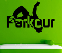 Parkour Wall Decals Street Sport Vinyl Stickers Cool Teen Room Home Interior Design Art Murals School