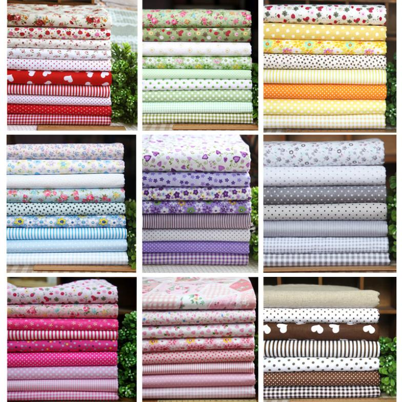 Buy 80 pcs floral cotton fabric no repeat for Cotton sewing material