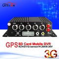 GPS track 4 Channel H.264 Real-time SD Car Vehicle Mobile DVR ,3G online 4CH  Video/Audio realtime Record Car MDVR I/O Alarm