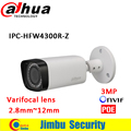 2016 Dahua IPC-HFW4300R-Z 2.8mm ~12mm varifocal motorized lens network bullet camera 3MP IR ip camera POE cctv security camera