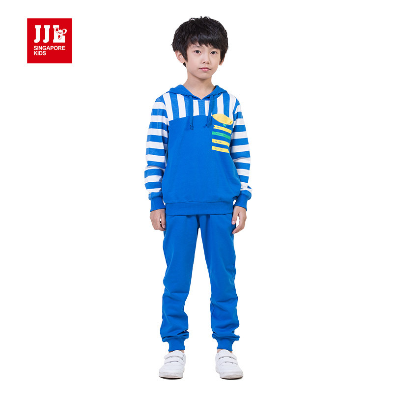 kids leisure outfits hoodie shirt + pants size 4-11 years 100% cotton kids brand suit children outfits kids clothes boys suits