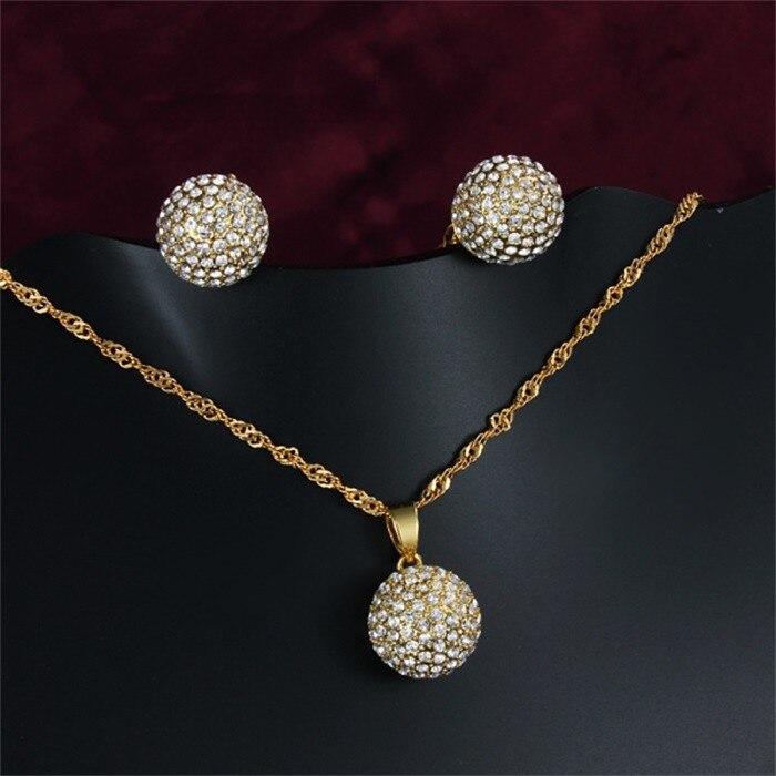 YHAMNI or rempli nigérian mariage perles africaines ensemble de bijoux remplissage CZ Zircon collier boucles d'oreilles ensembles pour les femmes YS027
