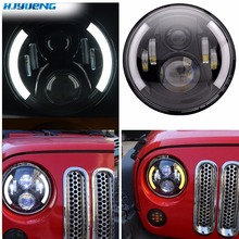 HJYUENG 60w for Lada Niva 4x4 7'' Led Headlights with Led Car Canbus Led Chip Hi-Lo Led Driving Light for Off-road UAZ LADA