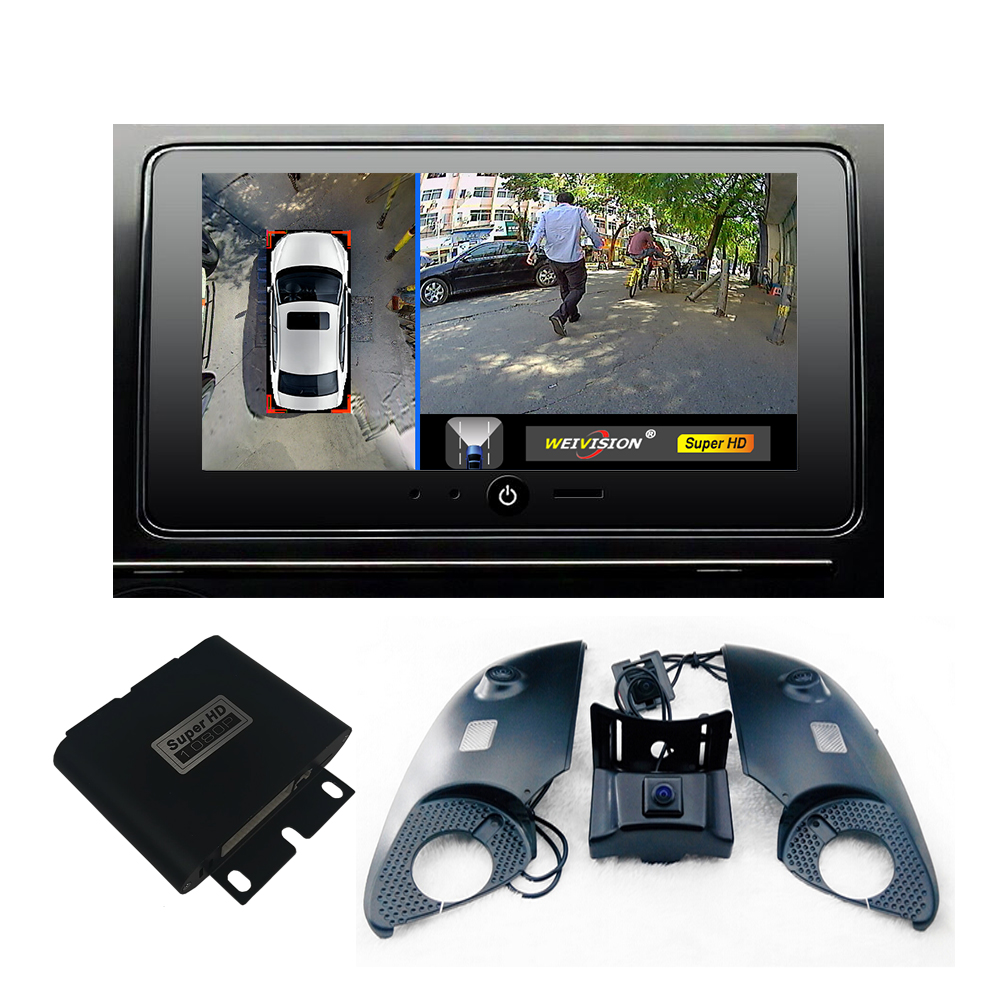 WEVISION 360 bird View Bil DVR rekord panormisk visning system, Surround Round View System for Toyota Prado Land Cruiser