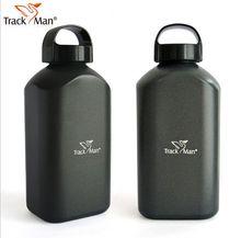 Track mann outdoor-sport flasche Reines aluminium kantinen 1000 ml hohe kapazität ohne isolierende mantel