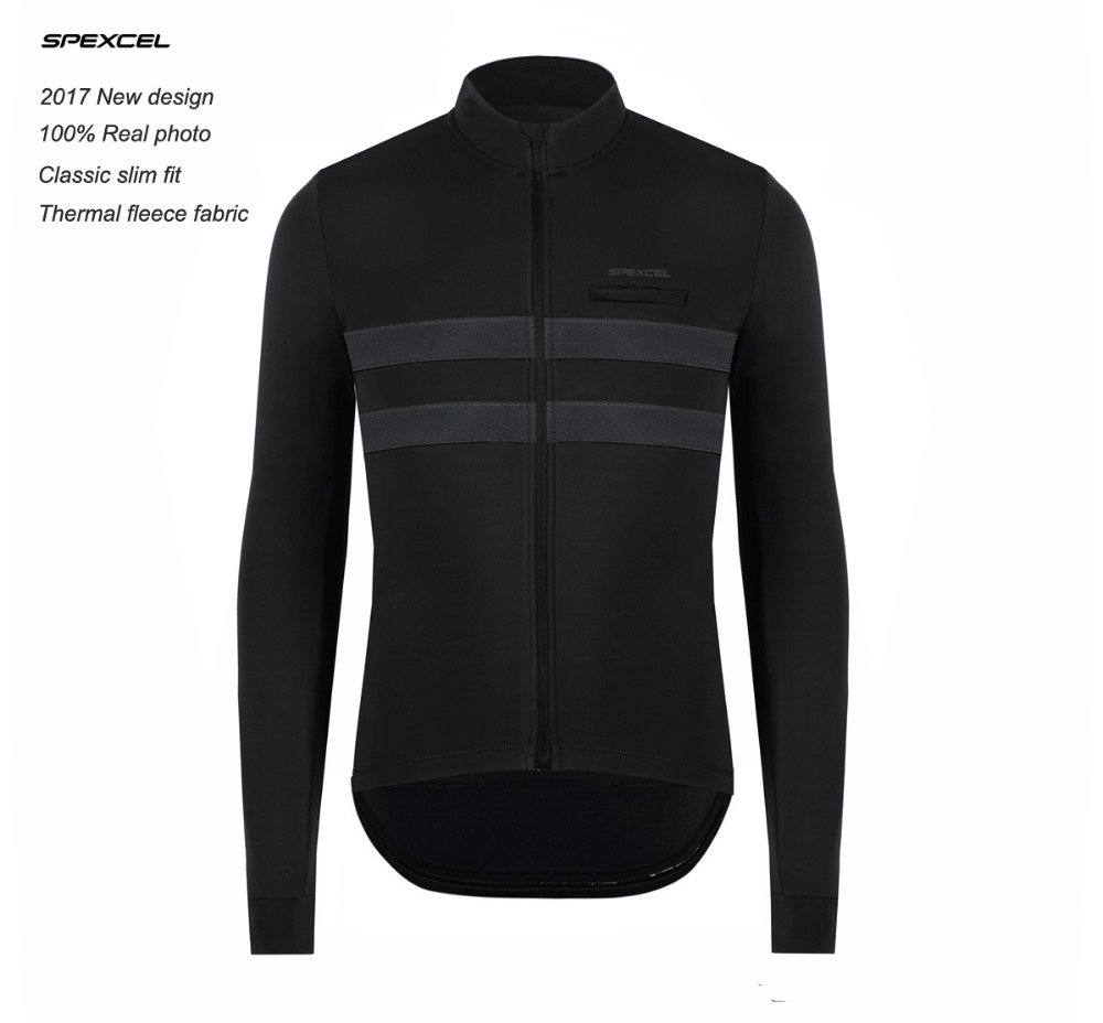 SPEXCEL 2017 NEW mens Winter long sleeveThermal fleece Cycling Jersey reflective stripe for low light ride Cycling ClothingSPEXCEL 2017 NEW mens Winter long sleeveThermal fleece Cycling Jersey reflective stripe for low light ride Cycling Clothing