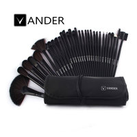 VANDER Black 32pcs Makeup Brush Set Professional Cosmetic Kits Brushes Foundation Powder Blush Eyeliner Pincel Maquiagem