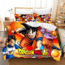 Dragon Ball Z Bedding Set Duvet Covers Pillowcases Anime Super Saiyan Comforter Sets Bed Linen Bedclothes Home Textile