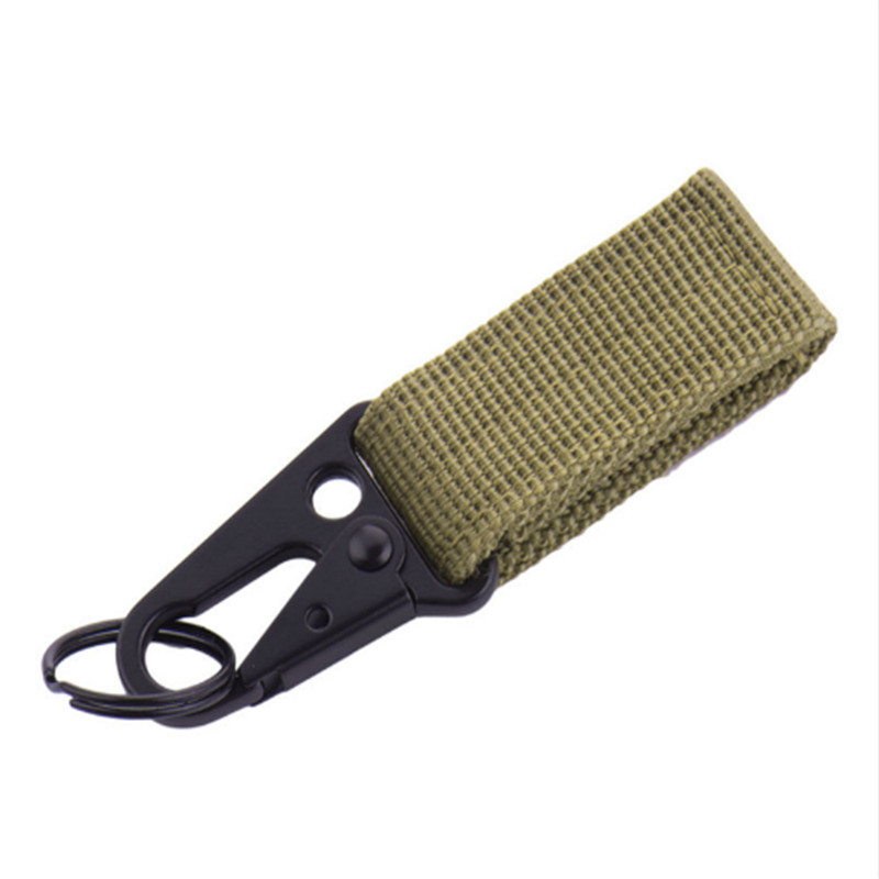 Outdoor Tool Nylon Camping Tactical Carabiner Survival Gear Backpack Hook Military Keychain Clasp Multifunction Webbing Buckle