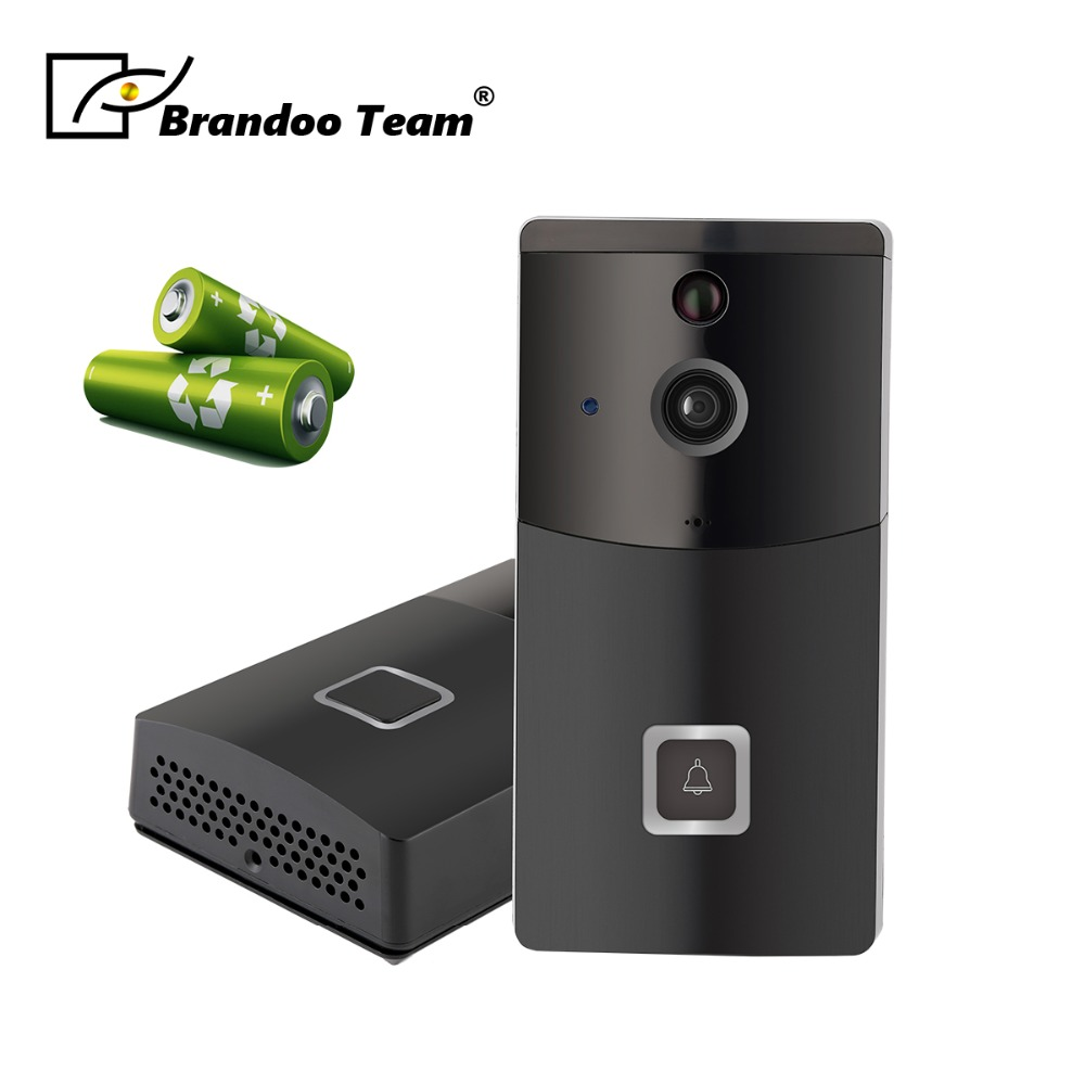 WiFi Video Doorbell 720P Security Camera Door Phone Two-Way Audio Night Vision Intercom Video Doorbell цена 2017