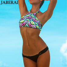 2016 New Brazilian High Neck Bikini Set Women Reversible Swimwear Sexy Strappy Swimsuit Seamless Bathing Suit Tanga Beach Wear 2