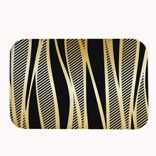 bath gold striped large rugs accessories for and rug black white bathroom sets elegant