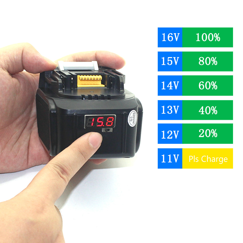 USB LED Indicator 14.4V 5000MAh BL1430 Li-ion Battery for MAKITA 14.4 Volt Drills DA340DRF 194065-3 194066-1 BHP440RFE BML145 free customs taxes high quality skyy 48 volt li ion battery pack with charger and bms for 48v 15ah lithium battery pack