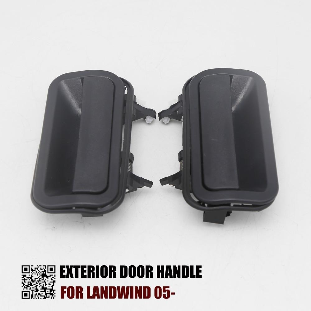 2PCS REAR PAIR EXTERIOR DOOR HANDLE FOR LANDWIND 2005