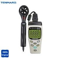 Tm 404 Портативный Многофункциональный Температура тестер, измеритель влажности, Скорость метр, абсолютное Давление метр