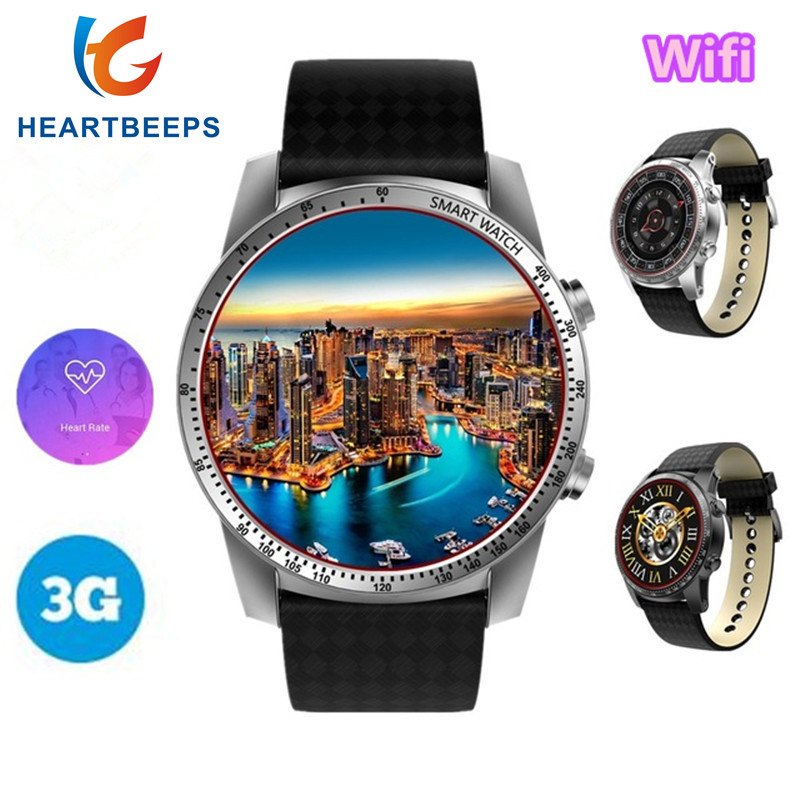 Galleria fotografica 2018 New KW99 3G Smart Watch MTK6580 Quad Core Android 5.1 GPS <font><b>Smartwatch</b></font> Wifi For Men 1.3GHz 8GB Heart Rate Monitor Pedometer