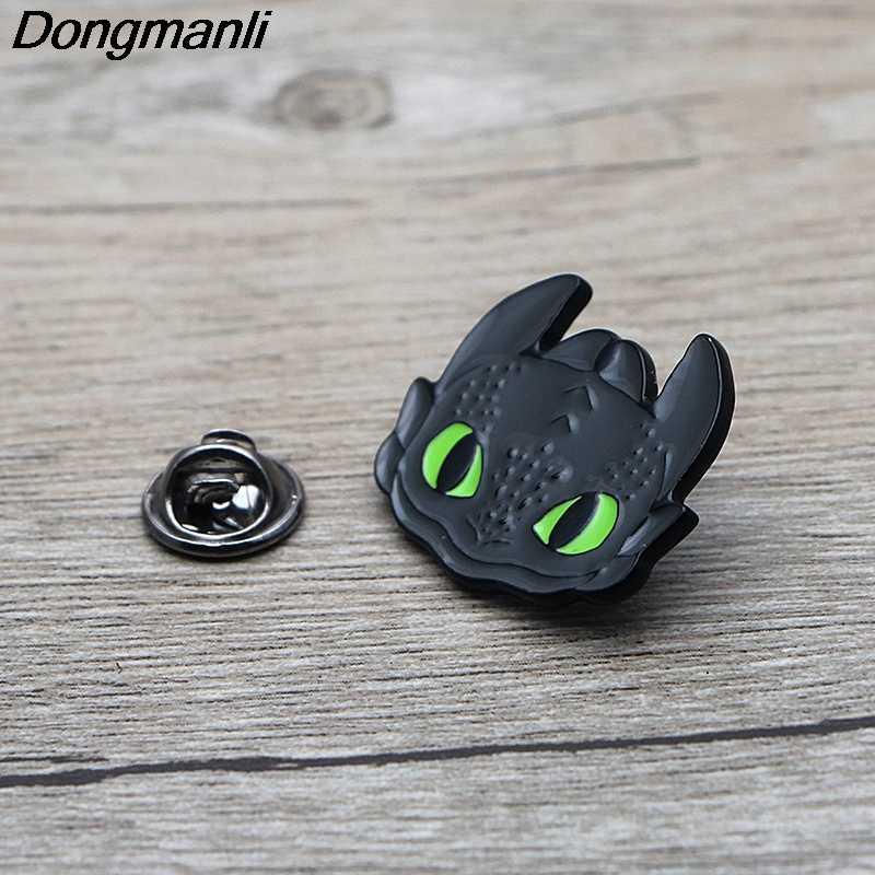 L3581 Как приручить дракона беззубый металлический брошки и шпильки Эмаль Булавка для рюкзака/сумки/джинсов значок брошь бижутерия 1 шт