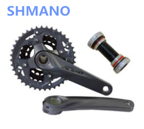 Shimano Relief M4050 3x9 Speed Crankshaft And Cranks HollowTech FC-M4050 with BB 27s bicycle parts 40-30-22T shimano hollowtech ii в беларуси