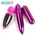 IKOKY Sex Toys for Women Masturbation Mini AV Vibration Massager Bullet Mini Egg Vibrator Portable Set Vibrators for Women