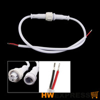 Hot LED Light Strips Male Female 2 Pin Waterproof Connector Cable White