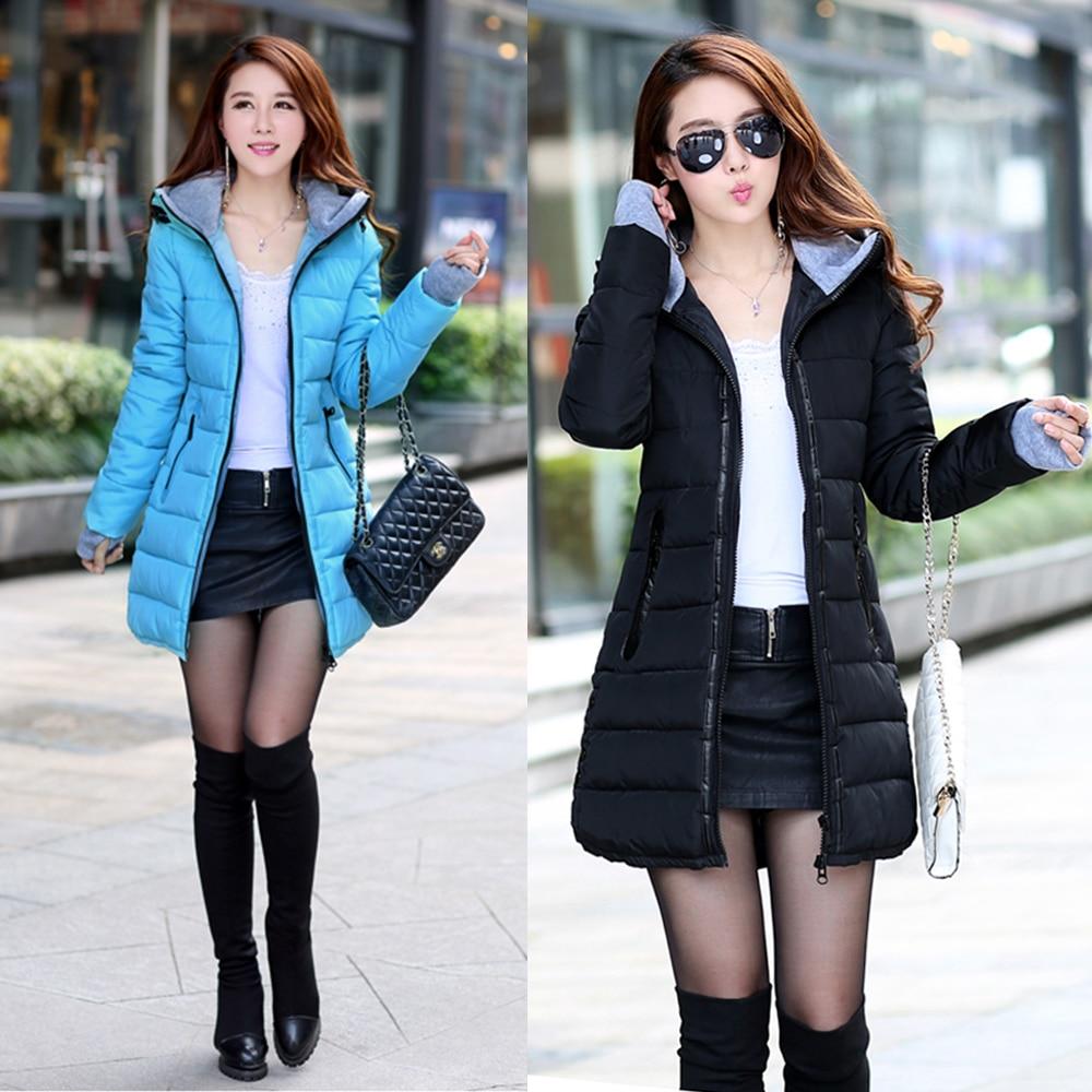 Winter Parka Hooded Jacket Women Winter Coat  Zipper Up Casual Hooded Slim Womens Jackets nike alliance parka 550 hooded