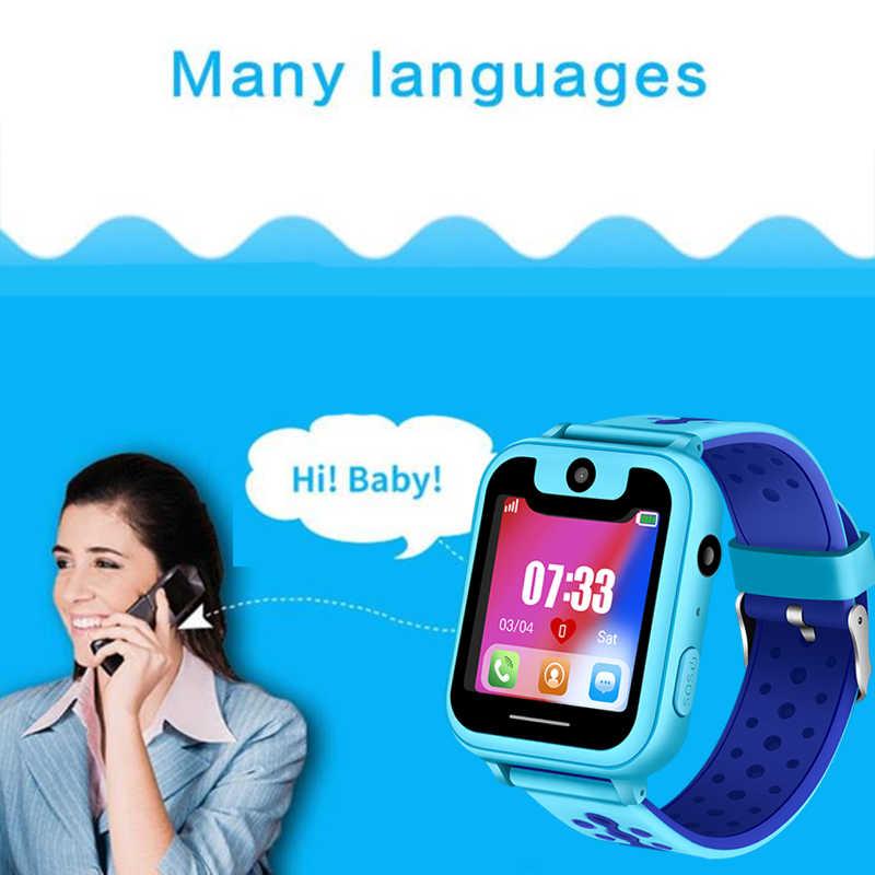 LIGE offre spéciale enfants téléphone montre LBS positionnement télécommande surveillance éclairage SOS enfant montre intelligente voix Chat carte SIM caméra + boîte