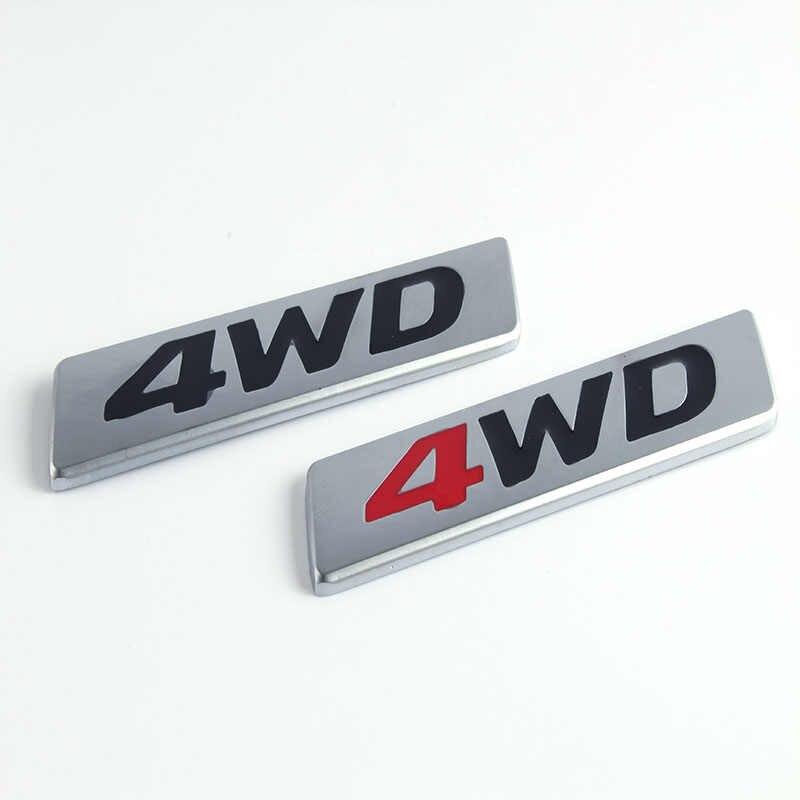 10x Chrome โลหะสติกเกอร์ 4WD สัญลักษณ์ 4X4 Badge Decal รถยนต์สำหรับ Honda CRV Accord Civic Suzuki Grand Vitara Swift SX4