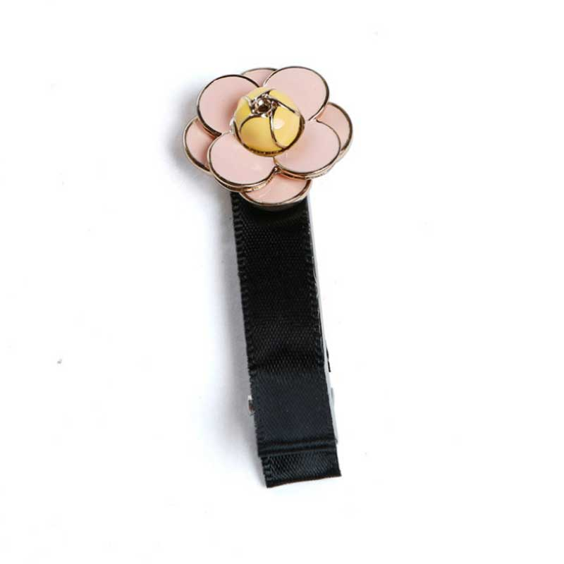 New Arrival Small fragrant Camellia Scrunch Hairpin Korean fashion Black white rose headbands