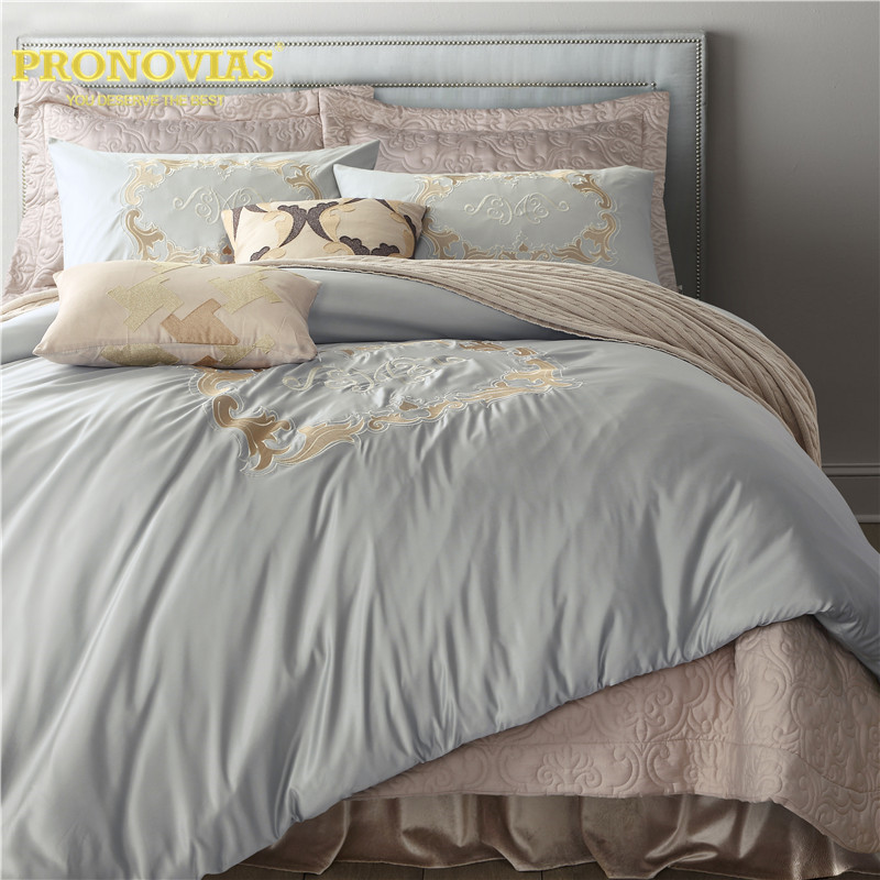Notte Tenera drago ricamato lavato seta biancheria da letto set copripiumino letto gonna cuscino casi 4 pz king size queen