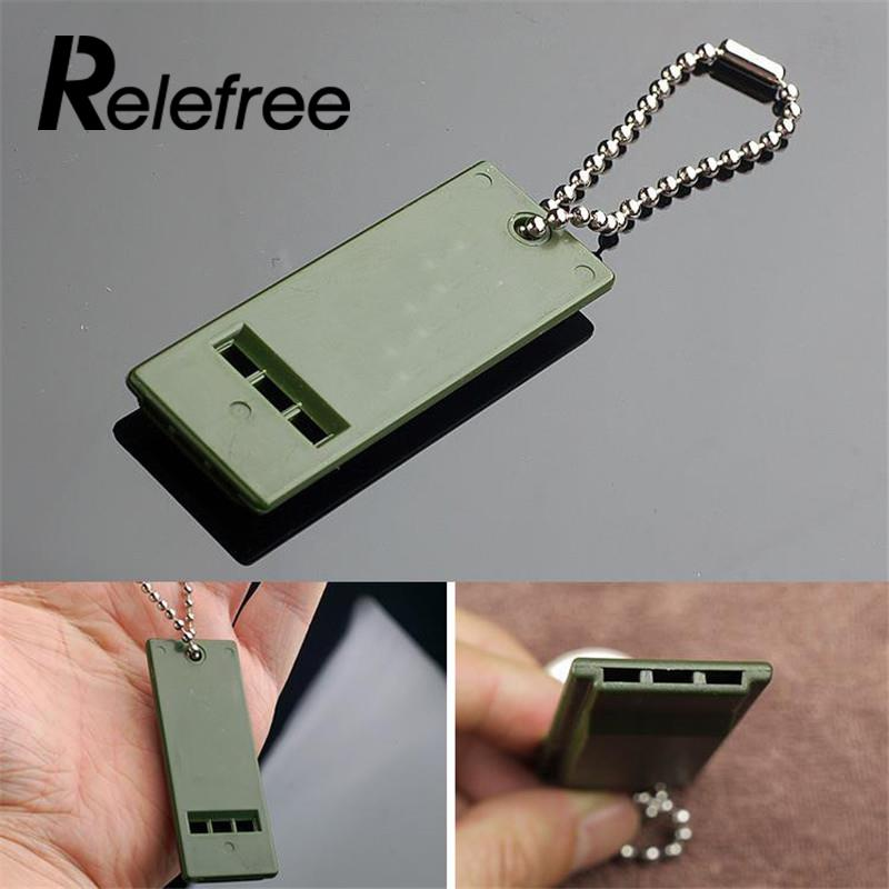 Relefree Portable Outdoor Survival Whistle Camping Hiking Multi-channel Audio First Aid Kits Useful EDC Tools 7 X 2.7cm