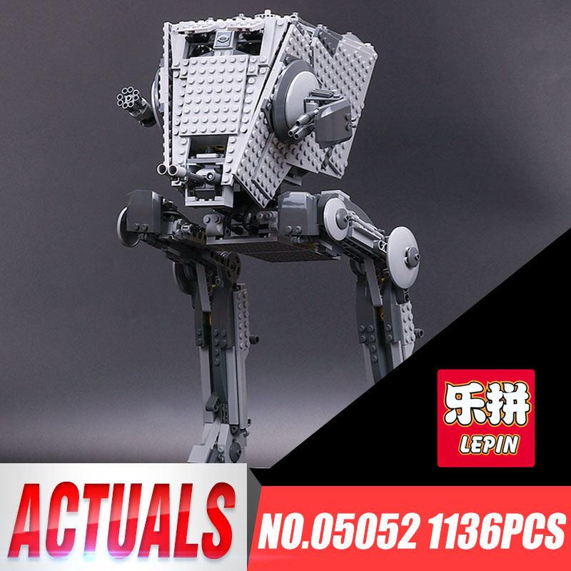 Lepin 05052 1068PCS New Star Series Wars The AT Toys ST Robot Building Blocks Bricks Set Toys 10174 IN STOCK Birthday Gift New black pearl building blocks kaizi ky87010 pirates of the caribbean ship self locking bricks assembling toys 1184pcs set gift